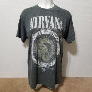 Nirvana shirt Large Seahorse & Bubble grunge